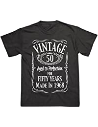 Postees 50th Birthday Vintage Made in 1968 Funny T-Shirt