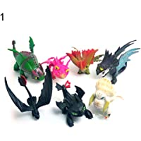WIN86haib 7/8Pcs PVC Action Figures How to Train Your Dragon2 Models Toothless Kids Toys