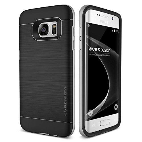 VRS Design Galaxy S7 Edge Hülle, Schutzhülle [Silber] Schlagfesten Stoßstangen TPU Bumper Case Kratzfeste Schlanke Handyhülle [High Pro Shield] für Samsung Galaxy S7 Edge 2016