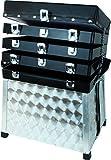 Aluminium Sitzkiepe verschließbar mit Schultertragegurt und großen Stauraum