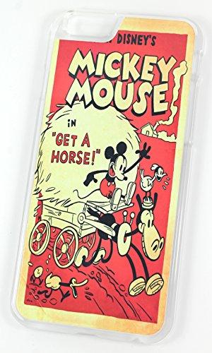 Walt Disney Mickey Mouse original pour un cheval Early Edition Comic pour (iPhone 6/6S 11,9cm en plastique rigide transparent coque/housse/)