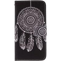 KATUMO® Galaxy Grand 2 Funda Cuero, Flip Case Cover Cubierta Carcasa de Piel para Samsung Galaxy Grand 2 SM-G7106/G7102 /G7105 Funda Rigida Estuche-Negro