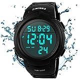 Skmei Herren Digital Sport Uhren wasserdicht LED Hintergrundbeleuchtung Große Zahl Display Multifunktions Armbanduhr