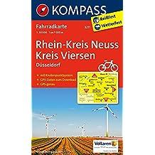 Rhein-Kreis Neuss - Kreis Viersen: Fahrradkarte mit GPS-Daten zum Download. GPS-genau. 1:50000 (KOMPASS-Fahrradkarten Deutschland, Band 3211)