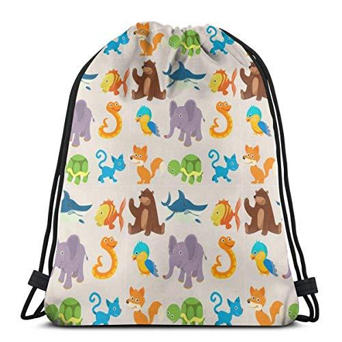 Blue Halloween Unisex Gym Drawstring Shoulder Bag Backpack String Bags ()
