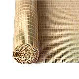 TANG CHAO Bambus Vorhang, Rollo Vorhang Fensterladen Innen- / Außenmontage Fenster Sonnenschutz Innen Desinfektion Portable, Bambus (Farbe : D, größe : 150x220cm)