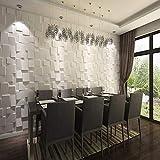 COCOL Pannelli per pareti Coprire Membrana Impermeabile in PVC Superficie Tridimensionale della Parete Interna Salotto TV Sfondo 3D Adesivi murali Decorazione della Parete Materiale in Fibra vegetale