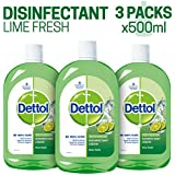 Dettol Disinfectant Cleaner for Home, Lime Fresh – 500 ml(Pack of 3)