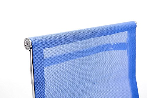 CLP Freischwinger-Stuhl mit Armlehne BRENDA, Blau - 4