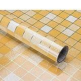 TT&CC Küche Öl Aufkleber,Hohe temperatur küche ölbeweis kachel Aufkleber leicht Schrubben Mosaik Selbst klebende Fenster Film Bad-G 45x200cm(18x79inch)