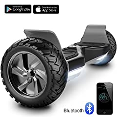 Idea Regalo - Challenger Basic Monopattino Elettrico Autobilanciato, Balance Scooter Skateboard, con Due Ruote 8.5 in, Bluetooth, App e LED,Inclusa Batteria e Borsa,15Km/H (Nero)