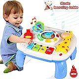 ACTRINIC Baby Spielzeug 18+ Monate Musikalische Lerntisch-Frühe Bildung,Musik Aktivitätszentrum Spieltisch Kleinkinder Spielzeug für 2 3 Jahre alt - verschiedene Beleuchtungen und Musik