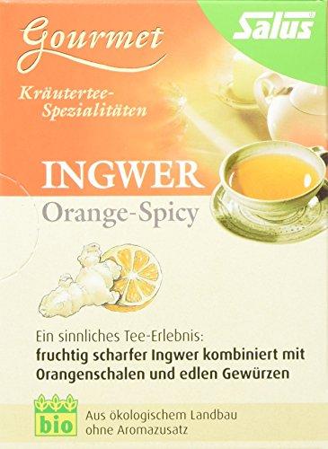 Salus Orange-Spicy Ingwer Gewürz-Kräutertee, 3er Pack (3 x 30 g) - Bio (Bio-orange Ingwer)
