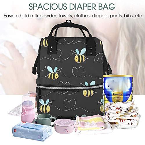Bumble Bee Zubehör - UKFaaa Large Diaper Bag Backpack,Bumble Bees