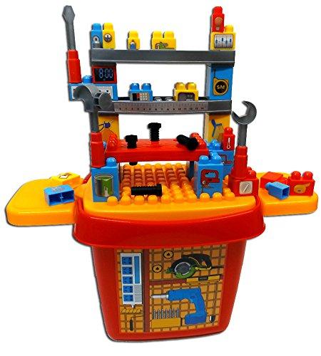 Brigamo 556 - Bausteine Werkbank Konstruktionsspielzeug mit großer Steinebox thumbnail