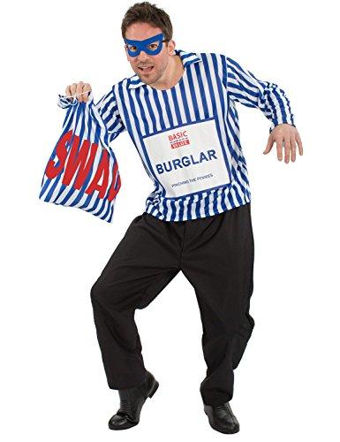 Herren Budgetwert Billig Einbrecher Räuber Dieb Verkleidung Kostüm Extra Large