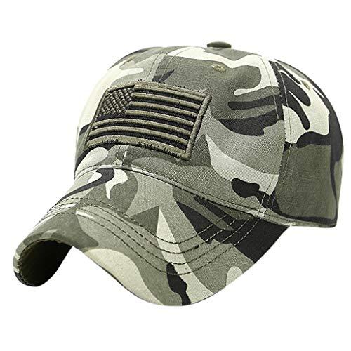 Tyoby Hüte Mützen Caps Sommerreiseklassiker jung Unisex Sportmütze Camouflage-Hüte Visier(Grün) -
