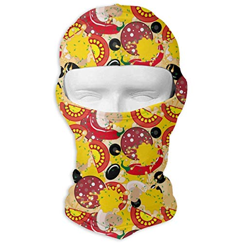 Wfispiy Neck Hood Full Face Mask Hat Sunscreen Breathable Quick Drying Delicious Mushroom Tomato Pepper Pizza Men Women