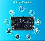Eunavi Auto GPS-Stereo mit Navigation eunavi 7in 2DIN Auto-DVD-Player für VW PASSAT B6 Golf 5 6 Polo passatcc Jetta Tiguan Touran Eos Sharan Scirocco Caddy HD mit GPS Sat Navi Karte Integriertes Bluetooth Autoradio