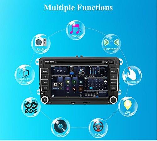 Gps Auto Für Stereo-und (Auto GPS-Stereo mit Navigation  eunavi 17,8cm 2DIN Auto-DVD-Player für VW PASSAT B6Golf 456Polo passatcc Jetta Tiguan Touran Eos Sharan Scirocco Caddy HD mit GPS Sat Navi Karte Integriertes Bluetooth Autoradio)