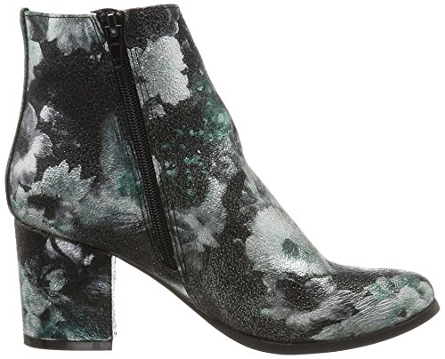 Vero Moda Ladies Vmgina Stivaletti Multicolore (black_blue Flowers)