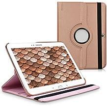 kwmobile Funda para Samsung Galaxy Tab 3 10.1 - Case de 360 grados de cuero sintético para tablet - Smart Cover completo y plegable para tableta en oro rosa