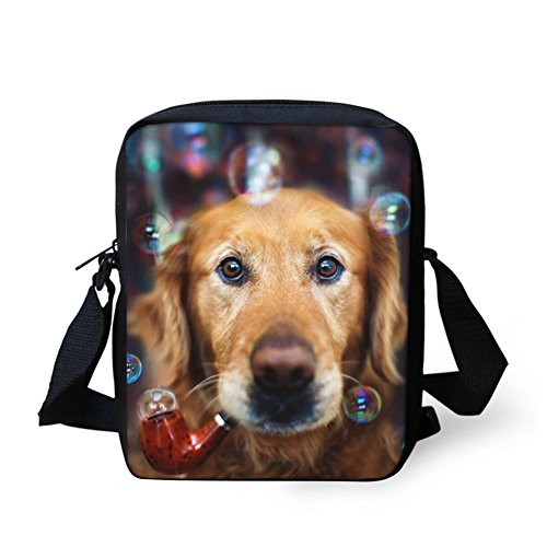 CHAQLIN Borsa Messenger, black pug (bianco) - CHAQLIN fashion dog