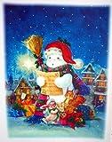 2 er SET RETRO KULT selbstklebende Fensterdekoration Fensterbild, Fensterfolie, MADE IN GERMANY Weihnachtsdekoration, Schaufenster In- und Outdoor , Kinderzimmer, Winter Basteln Spielen Kleben, Bunte Klebebilder für das Fenster Sticker, Weihnachten Rentier Tannenbaum Geschenke Weihnachtskalender Nikolaus Engel Christmas Schneemann