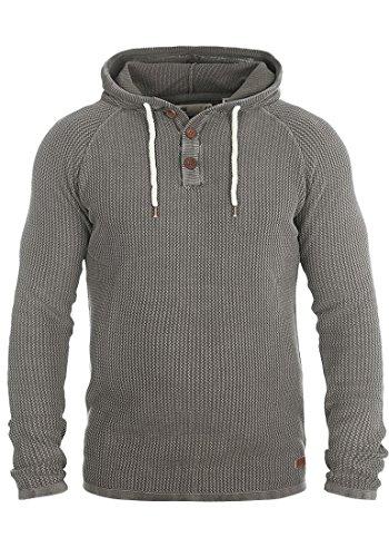 SOLID Ten Herren Kapuzenpullover Hoodie Sweatshirt aus 100% Baumwolle Meliert Grey Melange
