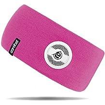 STIRNBAND mit integrierten KOPFHÖRERN Mikrofon Bluetooth 2-Farben Earebel 65 (Pink)