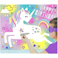 Oxford Novelties Unique Pin The Horn On The Unicorn Blindfold Party Activity Game 48cm x 38cm