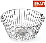 Bhati High Grade Stainless Steel Dish Drainer/Dish Drying Rack/Plate Stand/Kitchen Utensils(Round) Medium (L*B*H)