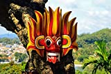 Fire Devil Mask Sri Lanka Asia Home Decor Art Wall Poster