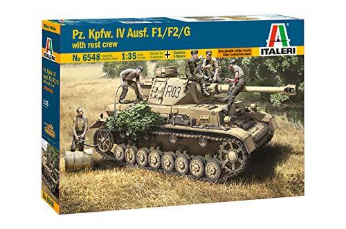 ITALERI 6548S - 1:35 Pz.Kpfw.IV Ausf.F1/F2/G Early /crew , Modellbau, Bausatz, Standmodellbau, Basteln, Hobby, Kleben, Plastikbausatz, detailgetreu