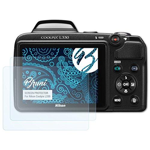 �r Nikon Coolpix L330 Folie - 2 x glasklare Displayschutzfolie (Nikon Coolpix L330-kamera)