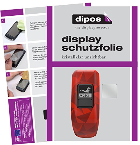 dipos I 6X Schutzfolie klar passend für Garmin Vivofit Junior 2 Folie Displayschutzfolie
