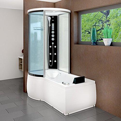AcquaVapore DTP8055-A007R Whirlpool Wanne Duschtempel Dusche Duschkabine 98×170, EasyClean Versiegelung der Scheiben:2K Scheiben Versiegelung +79.-EUR - 2