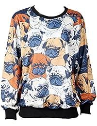 Thenice - Sudadera - Animal Print - Cuello redondo - para mujer