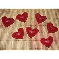Jabón, Jabón de invitados, hecho a mano en forma de corazón Aroma Jabón Mini Corazón Regalo para Invitados aprox. L650D-15G–1ST.