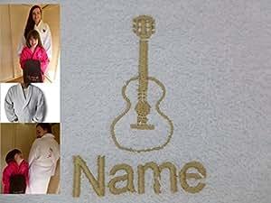 bademantel f r erwachsene mit einer gitarre logo und namen. Black Bedroom Furniture Sets. Home Design Ideas