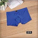 SLXFAD Herrenunterwäsche Männer Unterwäsche Transparente Boxershorts Mann Ice Silk Höschen U Convex Pouch Unterhose 8 Einfarbig SML