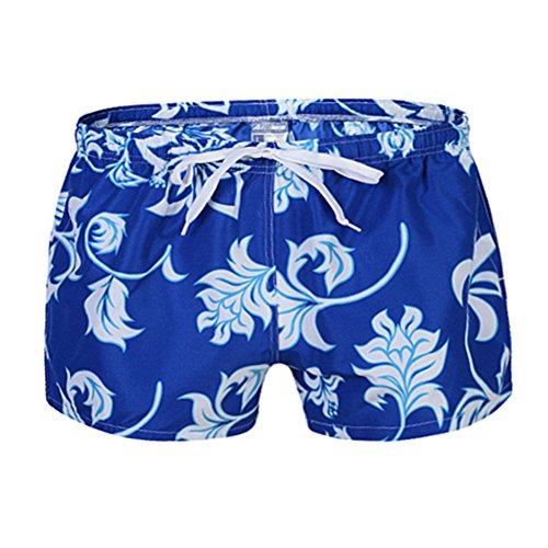 Troncs pantalon décontracté BaronHong Floral Designer Pantalon Hommes Hommes Drapeau américain catégorie pyjama Slip plage