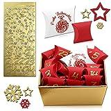 tumundo Adventskalender Zum Befüllen 26-teilig Weihnachtskalender Zum Basteln Weihnachten Geschenkbox Kinder Schmuck Set