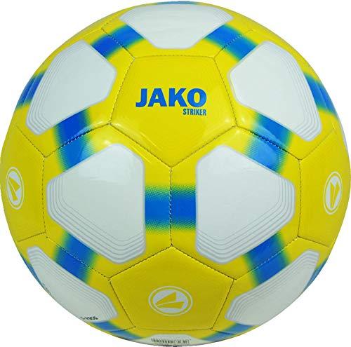 JAKO Herren Lightball Striker weiß/gelb blau-290g, 5 -
