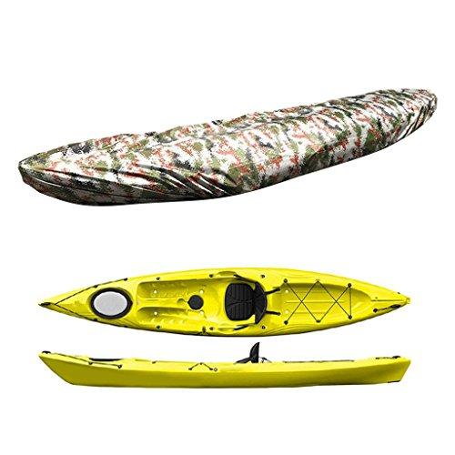 Yundxi Persenning Boots-Abdeckplane, Sonnenschutz Wasserdichte Boot Abdeckung,Staubschutz Bootsplane - Kajak Kanu Boot Abdeckplane - Digital Camouflage