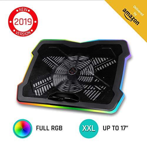 KLIMTM Ultimate + Laptop-RGB-Kühler- 11 bis 17 Zoll + Laptop-Gaming-Kühlung + Neuheit 2019 + USB-Lüfter + Stabil und leise + Mac- und PS4-kompatibel
