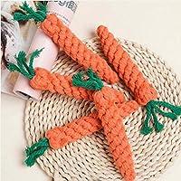 Bongles 1 Pcs Cute Adorable Dog Chew Toy Straw Carrot Rabbit for Hamsters Guinea Rat Pet Supplies Corn Pets
