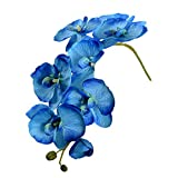 1Stück Simulation Schmetterling Orchidee False Blossom Phalaenopsis Seidenblumen Blume Kunstblumen Blumenstrauß Home Decor blau
