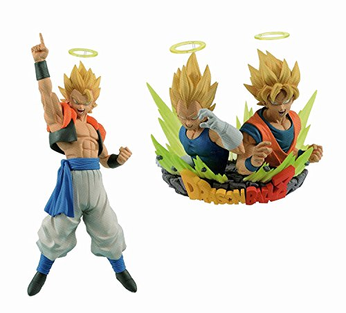 Dragon Spielzeug Gogeta Ball Z (Dragon Ball Z com Figuration Gogeta [Vol. 1, Vol. Set of 2] Banpresto Prize DBZ)