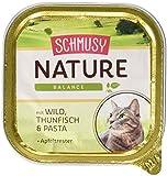 Schmusy Katzenfutter Nature Balance Wild+Thunfisch 100 g, 16er Pack (16 x 100 g)